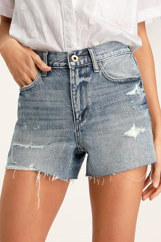 49db47cea7e Pistola Ace High Rise Shorts - Denim Cutoff Shorts - Jean Shorts