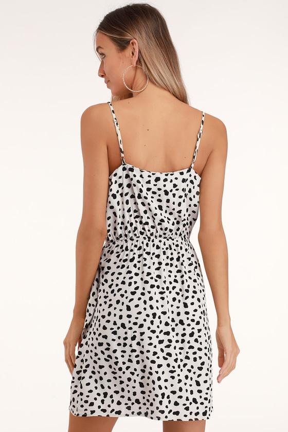 Moon River Dress - Beige Leopard Print Dress - Cute Mini Dress 0811267f7