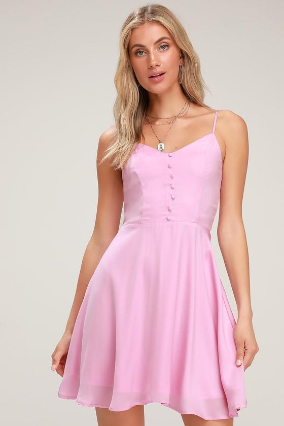 Cute Pink Skater Dress - Lavender Skater Dress - Pink Mini Dress f613b6306