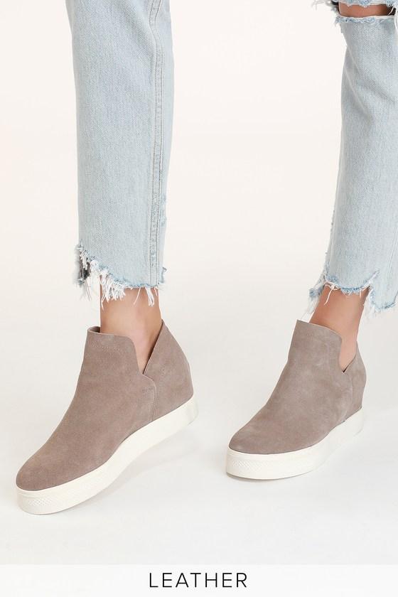 Hidden Wedge Sneakers - Suede Sneakers