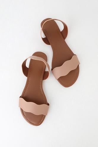 7c50c7994 Marla Blush Flat Slingback Sandals