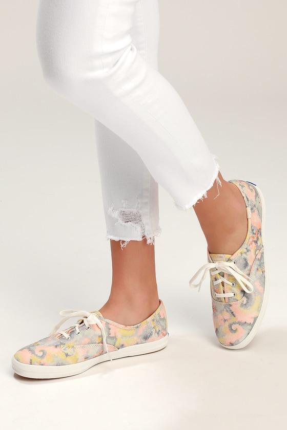 02148d09148 Keds Champion - Tie-Dye Pink Multi Sneakers - Classic Sneakers