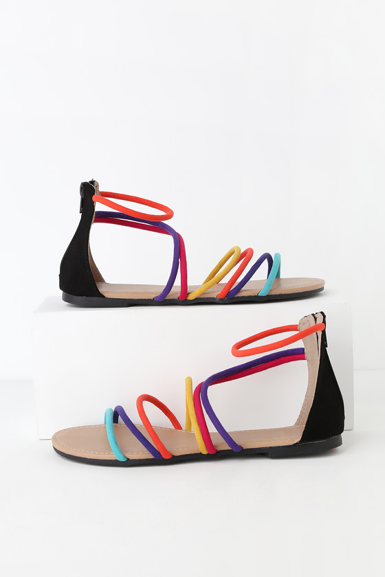 Cute Suede Sandals - Gladiator Sandals
