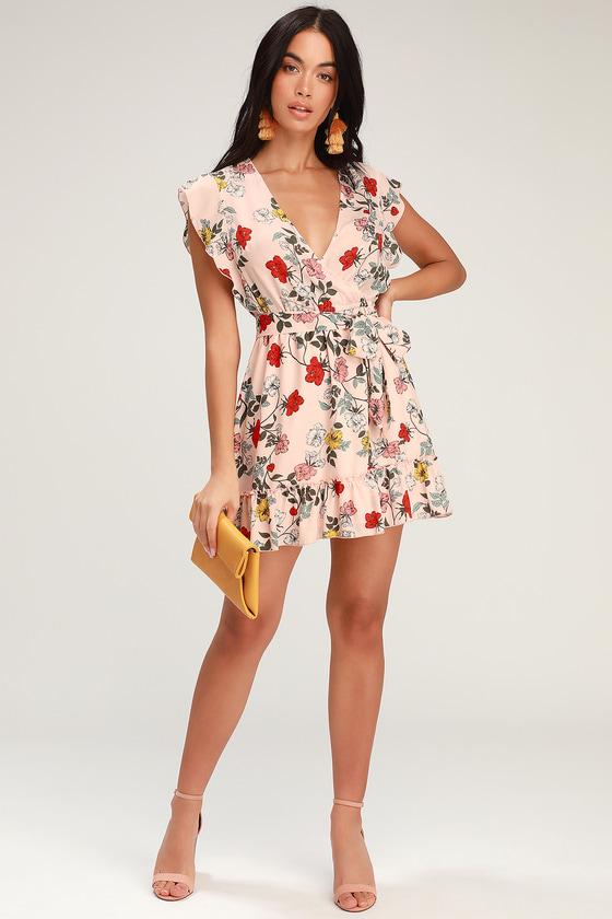 b140cb44f2 Jack by BB Dakota Ok Cupid - Pink Floral Print Dress - Mini Dress
