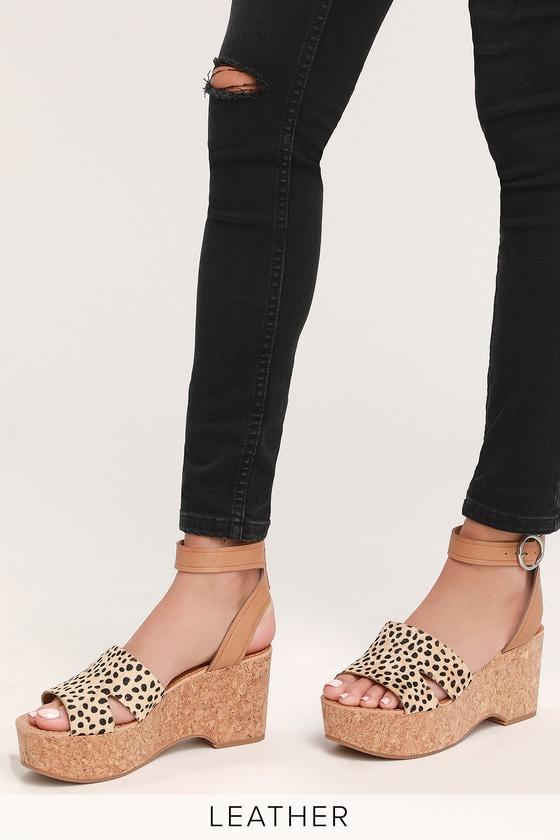 eba72f9d93c8 Dolce Vita Linda - Leopard Calf Hair Heels - Platform Heels
