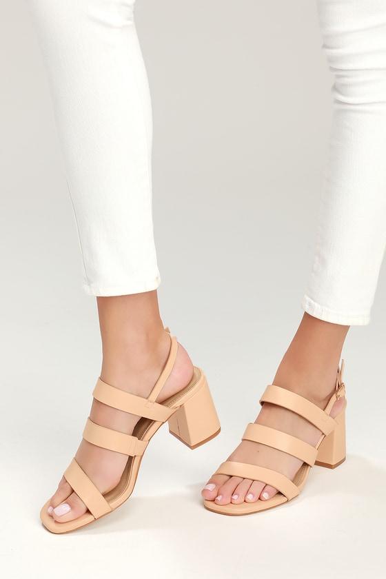 eab4ff8e45e RAID Nude Sandals - High Heel Sandals - Strappy Sandals