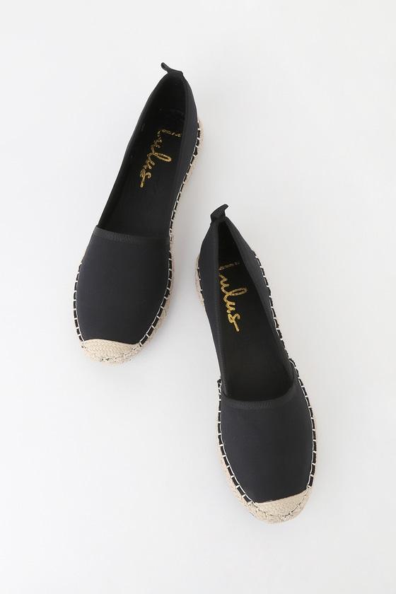 Gamila Black Slip-On Espadrille Sneakers