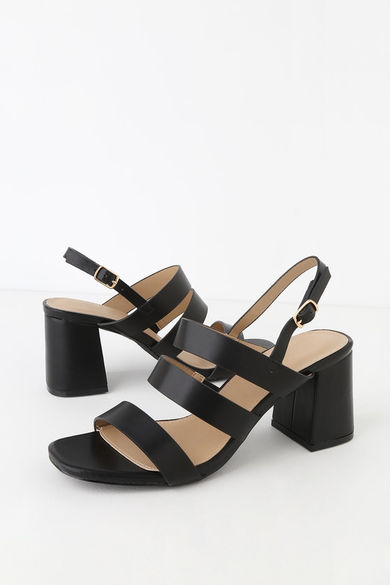 Bryn Black High Heel Sandals by Raid
