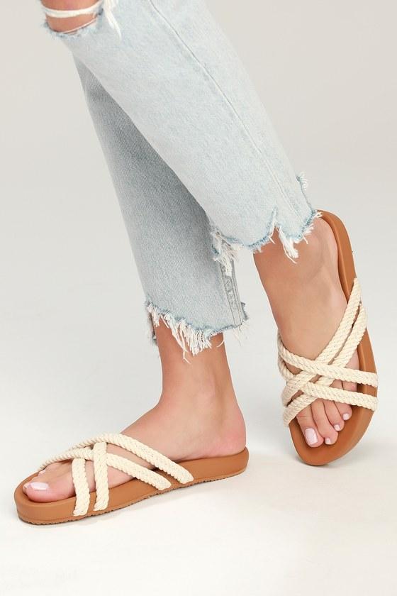 5456c0d9dfe36 Billabong Rope Tide Sandals - Slide Sandals - Crisscross Sandals
