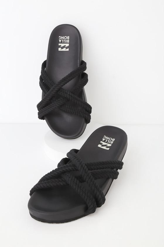 b8c04b0f4 Billabong Rope Tide Black Sandals - Crisscross Sandals - Sandals