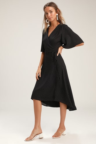 3bca93985ee Shop Short or Long Wrap Dress in the Latest Style for Less