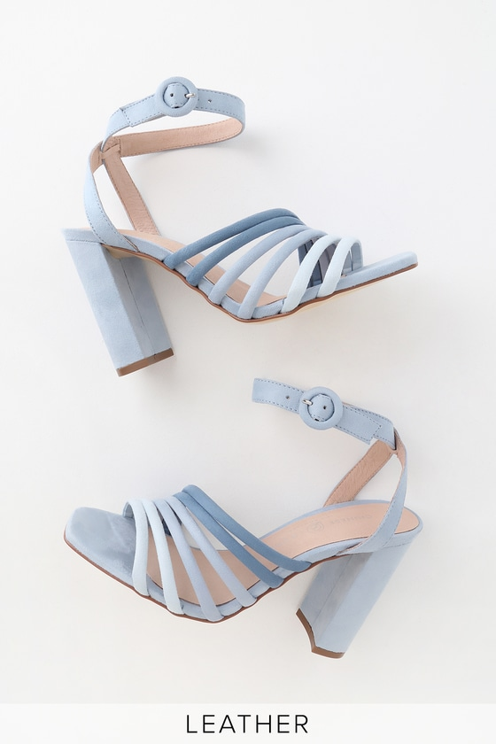 a1acb478ad Chinese Laundry Jonah - Blue Multi Suede High Heel Sandals