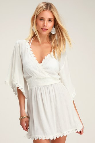 46bf285e9e Sandy Beach White Swim Cover-Up