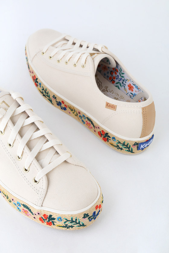12ff7be9f57 Keds x Rifle Paper Co. Triple Kick Shoes - Platform Sneakers