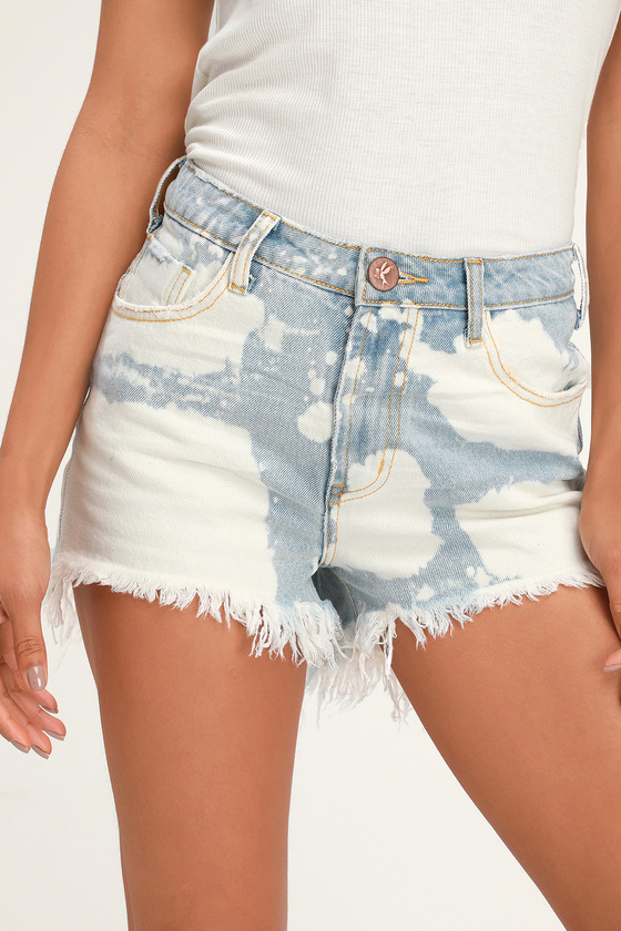 Bonita Bleached Light Wash High Waist Denim Cutoff Shorts - Lulus