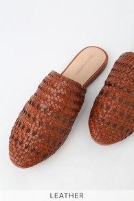 11c98317d08c Steve Madden Aida - Cognac Leather Sandals - Flatform Sandals