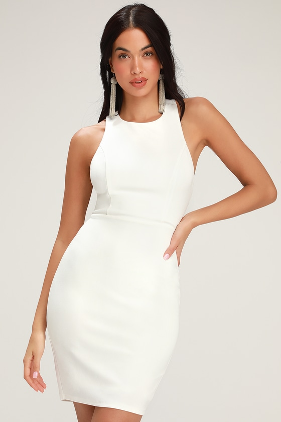 bdb61961bd02 Sexy White Dress - Bodycon Dress - Strappy Dress - Cocktail Dress