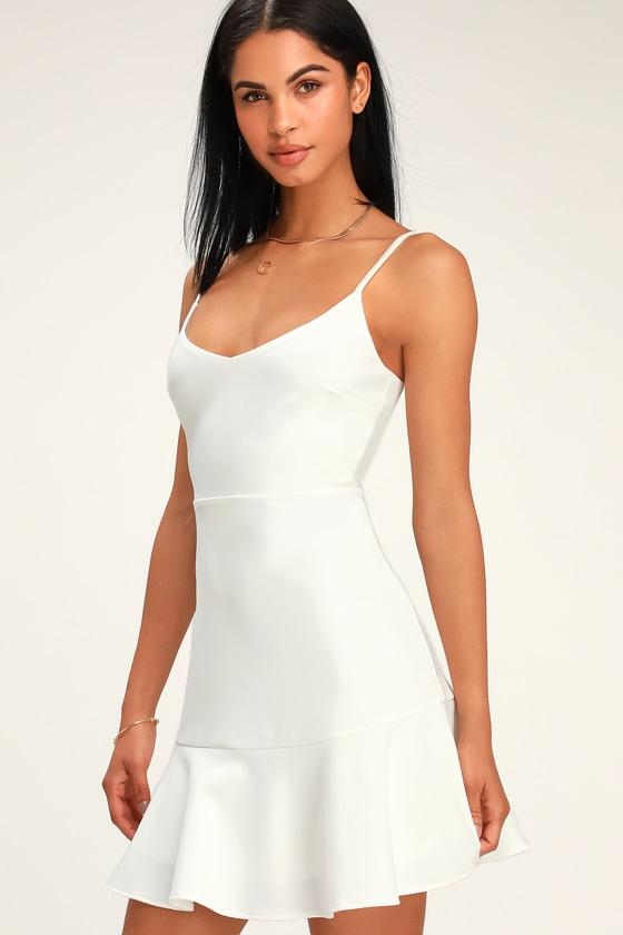 bfa4052f84df6 Cute White Mini Dress - Little White Dress - Fit and Flare Dress