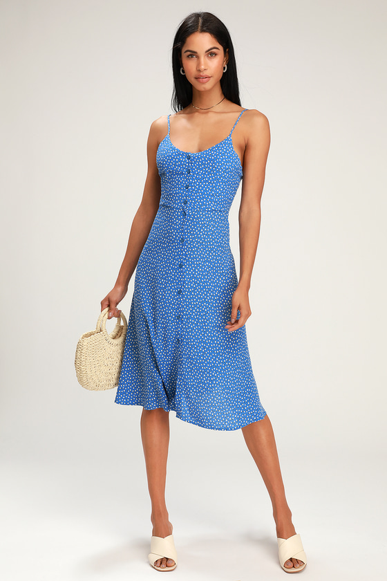 181ec9d0fef Rolla's Midsummer Mini - Blue Tulip Print Dress - Midi Dress