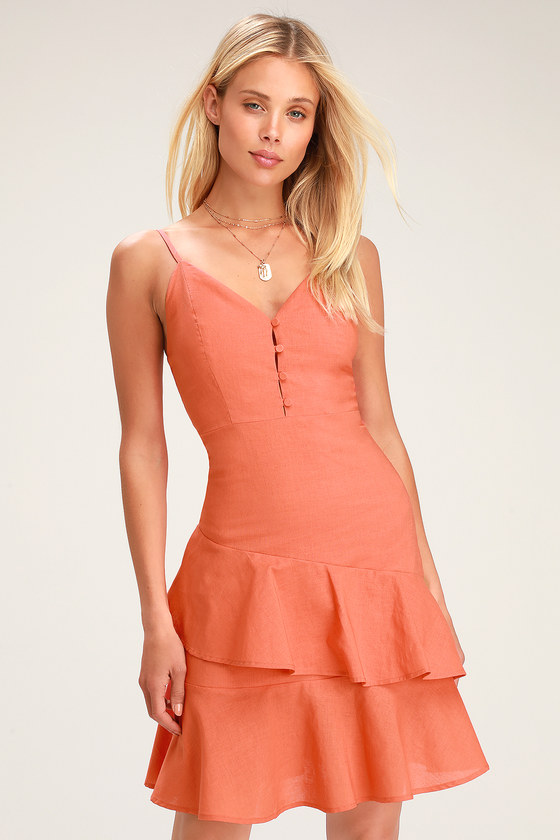Peach Orange Dresses
