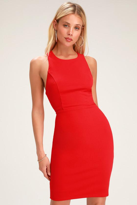 f2cd3da0ddcf Sexy Red Dress - Bodycon Dress - Strappy Dress - Cocktail Dress