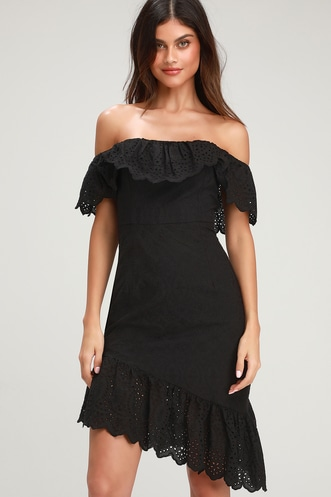606e3eadf7cc Find a Cute Off-Shoulder Casual Dress at a Great Price