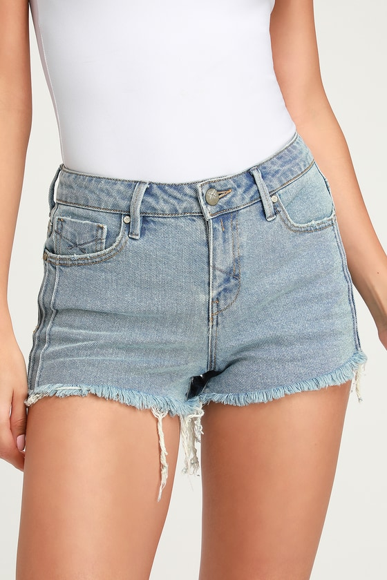 ee127f7d6c Unpublished Stella Tucked Shorts - Jean Shorts - High-Rise Shorts