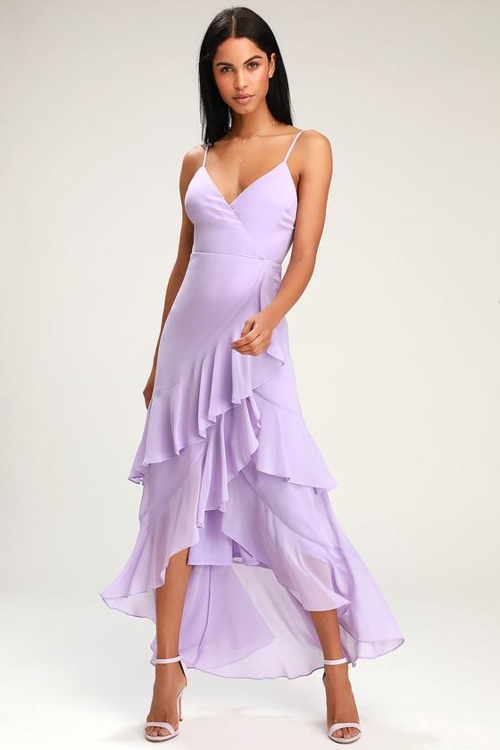 08dcb36428 Lovely Lavender Dress - Ruffled Maxi Dress - High-Low Dress