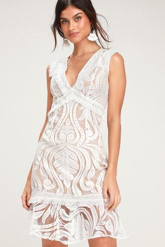 ff277782076 Michi White Lace Mini Dress