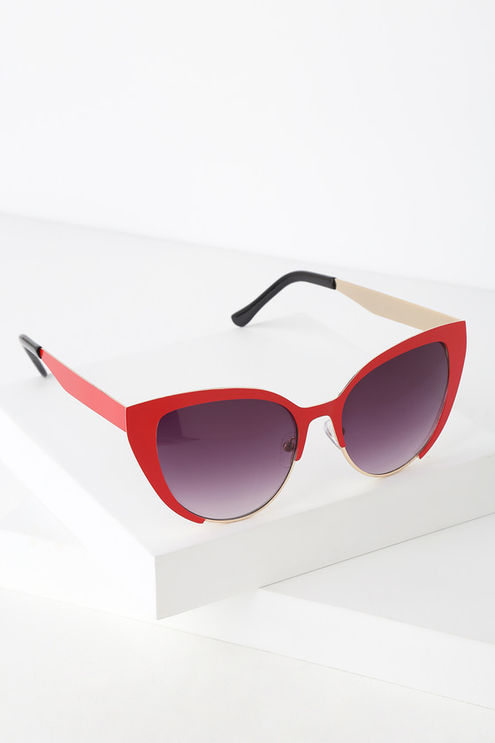 ebcc7d7c2f Cute Red Sunnies - Cat-Eye Sunglasses - Red Cat-Eye Sunnies