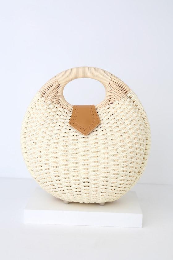 Tortugas Natural Woven Circle Bag