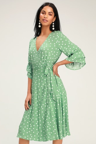 3ce70c19ad10 Shop Short or Long Wrap Dress in the Latest Style for Less