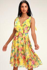 ac44af2f091a59 Lovely Golden Yellow Dress - Wrap Dress - Maxi Dress