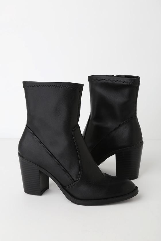 Juke Black Stella High Heel Booties