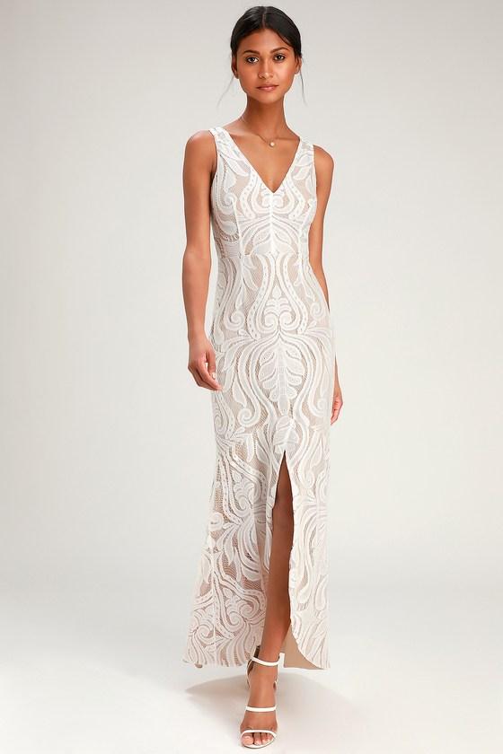 de91a1f917d0 Cassidy White Lace Maxi Dress - Lulus ...