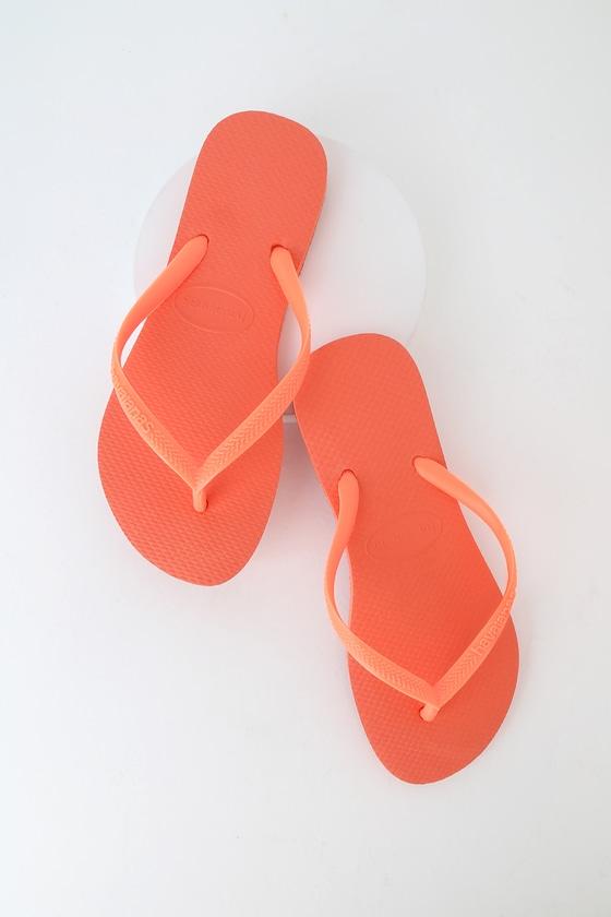 6db2852f89d Havaianas Slim - Orange Flip Flops - Foam Flip Flops - Thongs