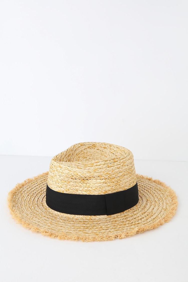 Feelin' It Beige Woven Boater Hat
