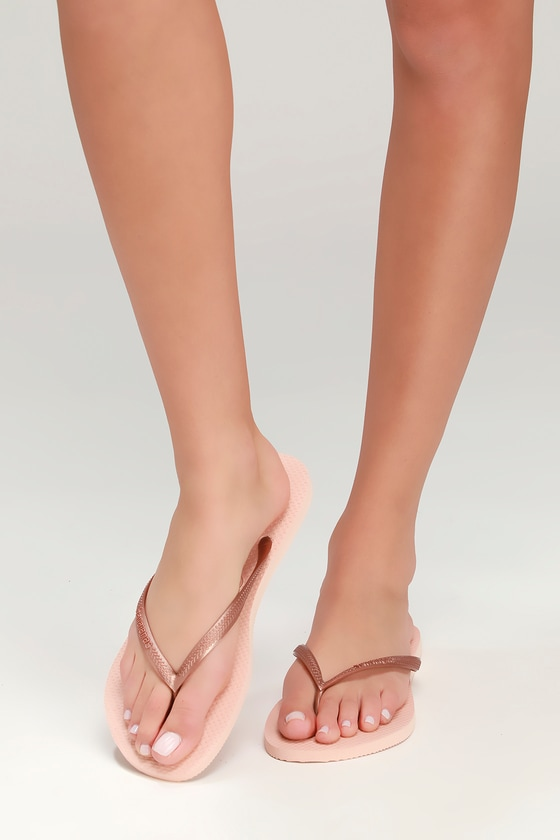 818ab249a Havaianas Slim - Pink Flip Flops - Foam Flip Flops - Thongs