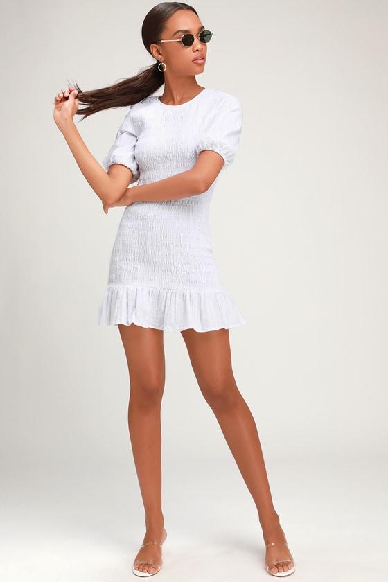 2e0aa8793f6 The Fifth Label Departure - White Dress - Smocked Mini Dress