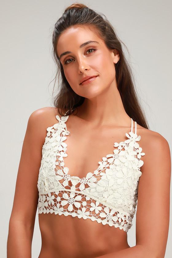 e3b75b48a6d Free People Miss Dazie White - Crochet Lace Bralette