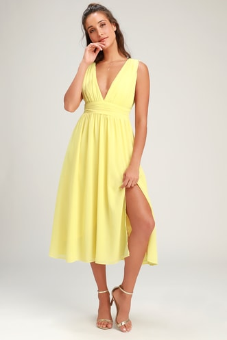 356df679a7b Find a Trendy Women s Yellow Dress to Light Up a Room