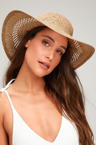 0fdd879d4c1 Tiki Beige Straw Sun Hat