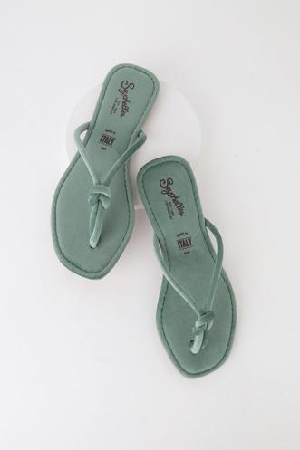 13e05ddb306d Seychelles Lifelong Seafoam Velvet Thong Sandals