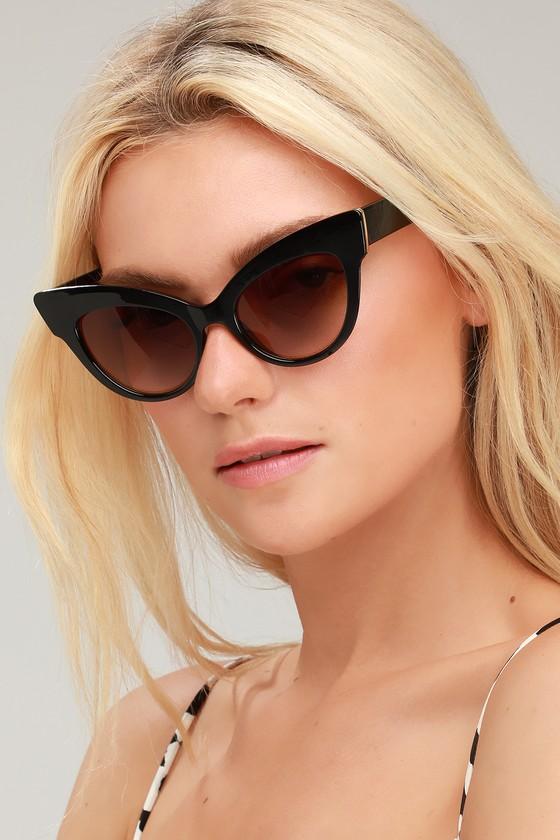 604dbc81a5dd 1950s Sunglasses & 50s Glasses | Retro Cat Eye Sunglasses Chick Flick Black  Cat-Eye
