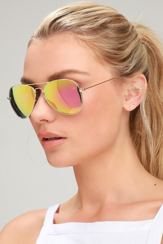 d5f198cc8 Prive Revaux The Commando - Pink Mirrored Aviator Sunglasses