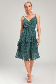 8afe83c73b Breezy Sage Green Dress - Ribbed Knit Dress - Strappy Dress