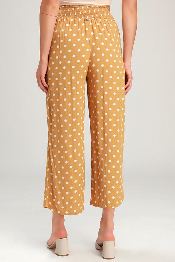 457523414e Billabong Cut Through - Yellow Polka Dot Pants - Culotte Pants