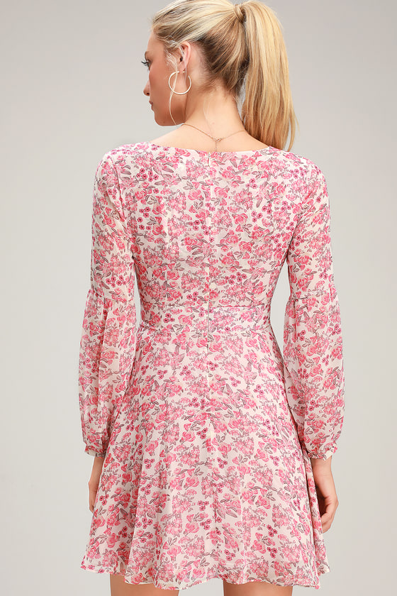 009826cb0c BB Dakota Sunday Brunch - Floral Print Dress - Long Sleeve Dress