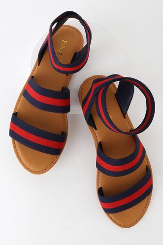 df99e18d9196 London Navy Multi Striped Sandals