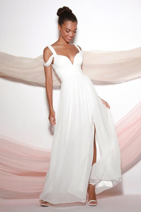 67ad0c17656 Ivory Dress - Maxi Dress - Cocktail Dress - Prom Dress